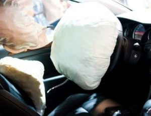 closeup image of inflated airbag