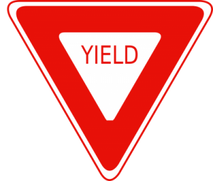 red yield sign