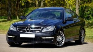 mercedes black car