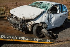 crashed car, car accident personal injury