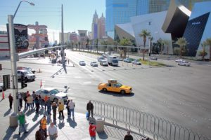 Las vegas street, car accident