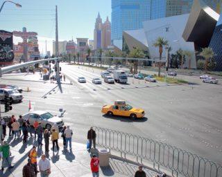 Las vegas street, car accident