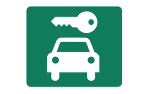Illustration of car and key