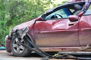 a crashed car, accident attorney las vegas