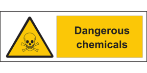dangerous chemical sign, injury attorney las vegas