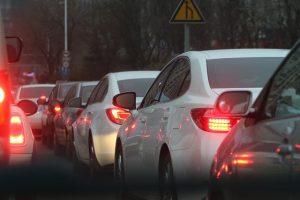 heavy traffic jam on road