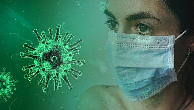 A woman wears mask to avoid coronavirus
