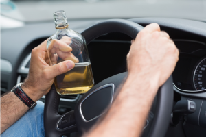 Driving while drinking alcohol